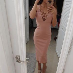 Baby Pink Criss Cross Dress